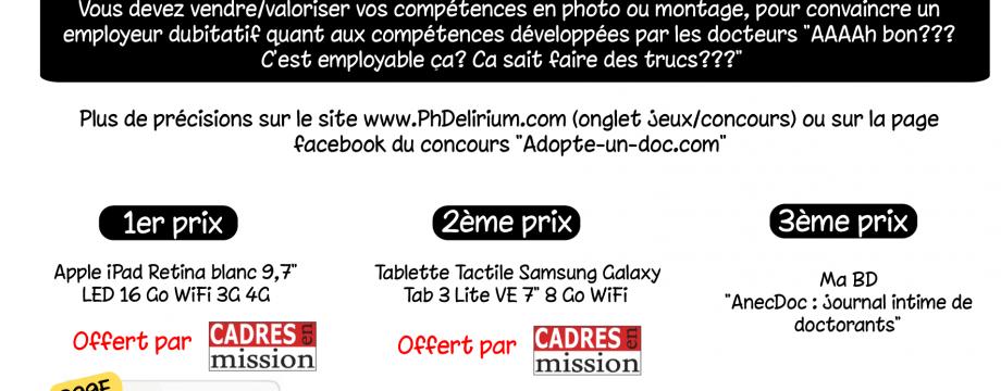 Adopte-un-doc.com lots tablette tactile